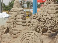 castelli di sabbia - sculture sulla sabbia di Iannini Antonio, scultore napoletano sanvitese - 18 agosto 2012  - San vito lo capo (243 clic)