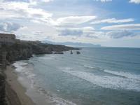spiaggia Praiola e panorama del Golfo di Castellammare - 15 aprile 2012  - Terrasini (809 clic)