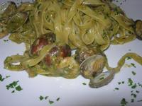 fettuccine con vongole, pistacchio e gamberi - Le Lanterne - 22 aprile 2012  - Calatafimi segesta (987 clic)