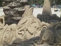 castelli di sabbia - sculture sulla sabbia di Iannini Antonio, scultore napoletano sanvitese - 18 agosto 2012  - San vito lo capo (339 clic)
