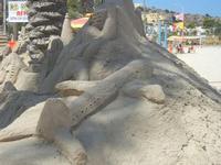 castelli di sabbia - sculture sulla sabbia di Iannini Antonio, scultore napoletano sanvitese - 18 agosto 2012  - San vito lo capo (259 clic)
