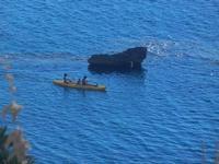 scoglio e canoa dal Belvedere - 23 agosto 2012  - Macari (348 clic)