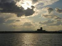 tramonto sul Castello della Colombaia - 12 febbraio 2012  - Trapani (1444 clic)
