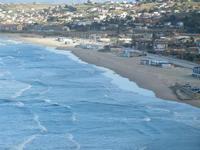 Spiaggia Plaja - panorama dalla periferia est della città - 25 gennaio 2012  - Castellammare del golfo (362 clic)