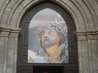 locandina mostra - portale della Chiesa di Sant'Agostino - 12 febbraio 2012  - Trapani (659 clic)