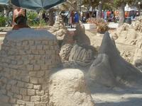 castelli di sabbia - sculture sulla sabbia di Iannini Antonio, scultore napoletano sanvitese - 18 agosto 2012  - San vito lo capo (252 clic)