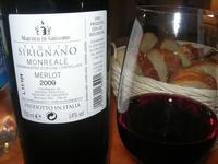 SIRIGNANO - Agriturismo - bottiglia e bichiere di vino - 1 maggio 2012  - Monreale (1174 clic)