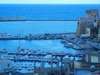 panorama porto e Castello a Mare - 16 settembre 2012  - Castellammare del golfo (200 clic)