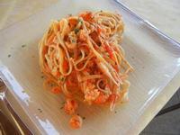 linguine con rana pescatrice e scampi - C.da Ettore Infersa - Fior di Sale - 9 settembre 2012  - Marsala (568 clic)