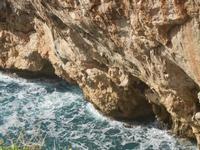 Riserva Naturale Orientata Capo Rama - Cala Porro - particolare della scogliera - 15 aprile 2012  - Terrasini (1707 clic)