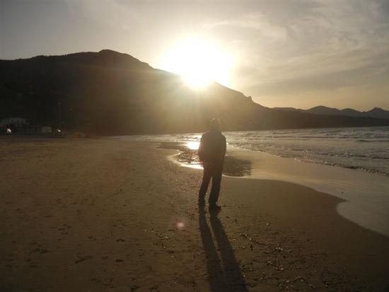Spiaggia Playa - tramonto - CASTELLAMMARE DEL GOLFO - inserita il 09-Dec-14