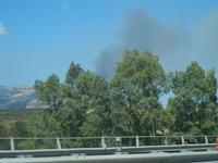 incendio su Monte Inici - 16 luglio 2012  - Segesta (466 clic)