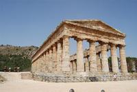 il tempio - 5 agosto 2012 - Foto di Nicolò Pecoraro  - Segesta (1423 clic)