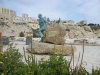monumento dedicato a Vincenzo Licata, Poeta del Mare - al porto - 26 febbraio 2012  - Sciacca (673 clic)