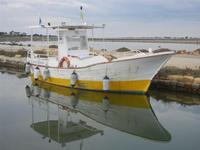 Imbarcadero Storico per l'Isola di Mozia barca e riflessi - 29 gennaio 2012  - Marsala (446 clic)