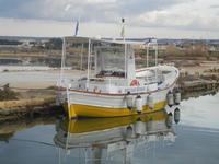 Imbarcadero Storico per l'Isola di Mozia barca e riflessi - 29 gennaio 2012  - Marsala (707 clic)