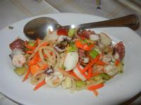 insalata di polpo - antipasto di mare - La Vela - 26 febbraio 2012  - Sciacca (1777 clic)