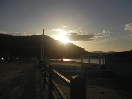 Spiaggia Playa - tramonto - CASTELLAMMARE DEL GOLFO - inserita il 03-Nov-14