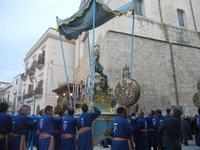 processione Maria Santissima dei Miracoli - trasferimento del simulacro dalla Basilica Santa Maria Assunta alla Chiesa dei SS. Paolo e Bartolomeo - 11 marzo 2012  - Alcamo (365 clic)