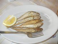 merluzzi fritti - antipasto di mare - La Vela - 26 febbraio 2012  - Sciacca (1554 clic)