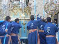 processione Maria Santissima dei Miracoli - trasferimento del simulacro dalla Basilica Santa Maria Assunta alla Chiesa dei SS. Paolo e Bartolomeo - 11 marzo 2012  - Alcamo (396 clic)