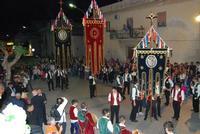 Il Corteo Storico di S. Rita - stendardieri - foto di Nicolò Pecoraro - 19 maggio 2012  - Castellammare del golfo (386 clic)