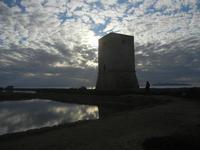 Torre di Nubia al tramonto - Oasi Naturale Orientata Saline di Trapani e Paceco (485 clic)