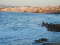 mare e panorama della città visti dalla Torre di Ligny - 9 aprile 2012  - Trapani (583 clic)