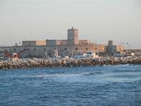 porto e Castello della Colombaia  visti dalla Torre di Ligny - 9 aprile 2012  - Trapani (1556 clic)
