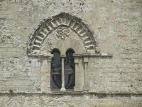 Torre Campanaria (sec. XII) - particolare: finestra bifora - 5 agosto 2012  - Erice (347 clic)