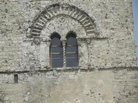 Torre Campanaria (sec. XII) - particolare: finestra bifora - 5 agosto 2012  - Erice (293 clic)