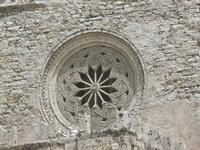 Duomo (sec. XIV) - particolare: rosone - 5 agosto 2012  - Erice (310 clic)
