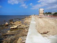 costa e torre di avvistamento - lavori in corso - 21 settembre 2012  - Marausa lido (825 clic)