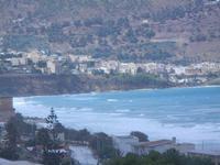 panorama ovest del Golfo di C/mare e mare agitato - Zona Plaja - 14 settembre 2012  - Alcamo marina (364 clic)