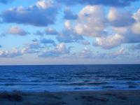 nuvole e mare al tramonto - Zona Canalotto - 16 settembre 2012  - Alcamo marina (1908 clic)