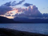 panorama ovest del golfo di Castellammare al crepuscolo - Zona Canalotto - 16 settembre 2012  - Alcamo marina (337 clic)