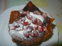 canestrello - canestrello croccante alle mandorle con panna e fragole - 14 settembre 2012  - Alcamo (460 clic)