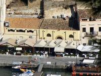 panorama dal Belvedere - locali sul porto - 21 settembre 2012  - Castellammare del golfo (954 clic)