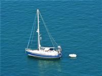 panorama dal Belvedere - barca a vela - 21 settembre 2012  - Castellammare del golfo (1671 clic)