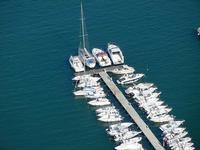 panorama dal Belvedere - porto - pontile mobile - 21 settembre 2012  - Castellammare del golfo (854 clic)