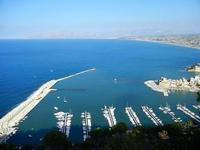 panorama dal Belvedere - porto e golfo - 21 settembre 2012  - Castellammare del golfo (441 clic)