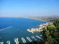 panorama dal Belvedere - città, porto e golfo - 21 settembre 2012  - Castellammare del golfo (495 clic)