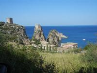 torri di avvistamento, faraglioni e tonnara - 6 maggio 2012  - Scopello (555 clic)
