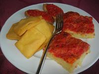 antipasto: bruschette, panelle e pizzette - Baglio Arcudaci - 27 maggio 2012  - Bruca (481 clic)