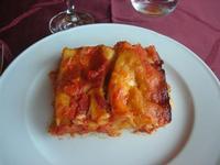 primo: pasticcio di lasagne - Baglio Arcudaci - 27 maggio 2012  - Bruca (470 clic)