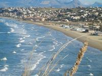 Spiaggia Plaja panorama dalla periferia est della città - 10 gennaio 2012  - Castellammare del golfo (2429 clic)