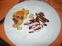 SIRIGNANO - Agriturismo - dessert - parfait di mandorle, parfait ai frutti di bosco, dadolata di frutta al Marsala - 1 maggio 2012  - Monreale (1260 clic)