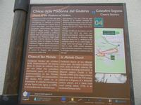 Chiesa della Madonna del Giubino e Chiesa di San Michele - cartello turistico - 22 aprile 2012  - Calatafimi segesta (490 clic)