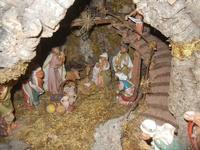 Chiesa della Madonna del Giubino - presepe - particolare: la Grotta della Natività - 22 aprile 2012  - Calatafimi segesta (595 clic)