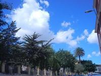 Via Porta Palermo - giardino pubblico e nuvole - 3 settembre 2012 ALCAMO Lidia Navarra (bis)